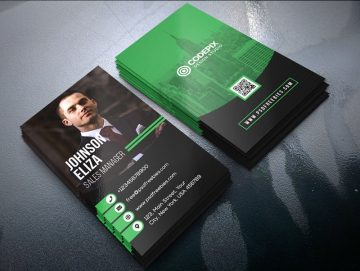 Modern Corporate Business Card - Free PSD Template