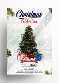 Christmas Celebration - Free PSD Flyer Template
