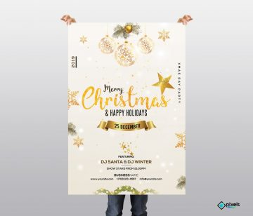 Christmas & Holiday - Free Invitation & Flyer PSD Template