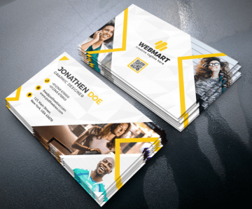 Clean Business Card - Free PSD Template