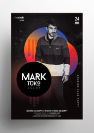 Club - Free Colorful Alternative PSD Flyer Template