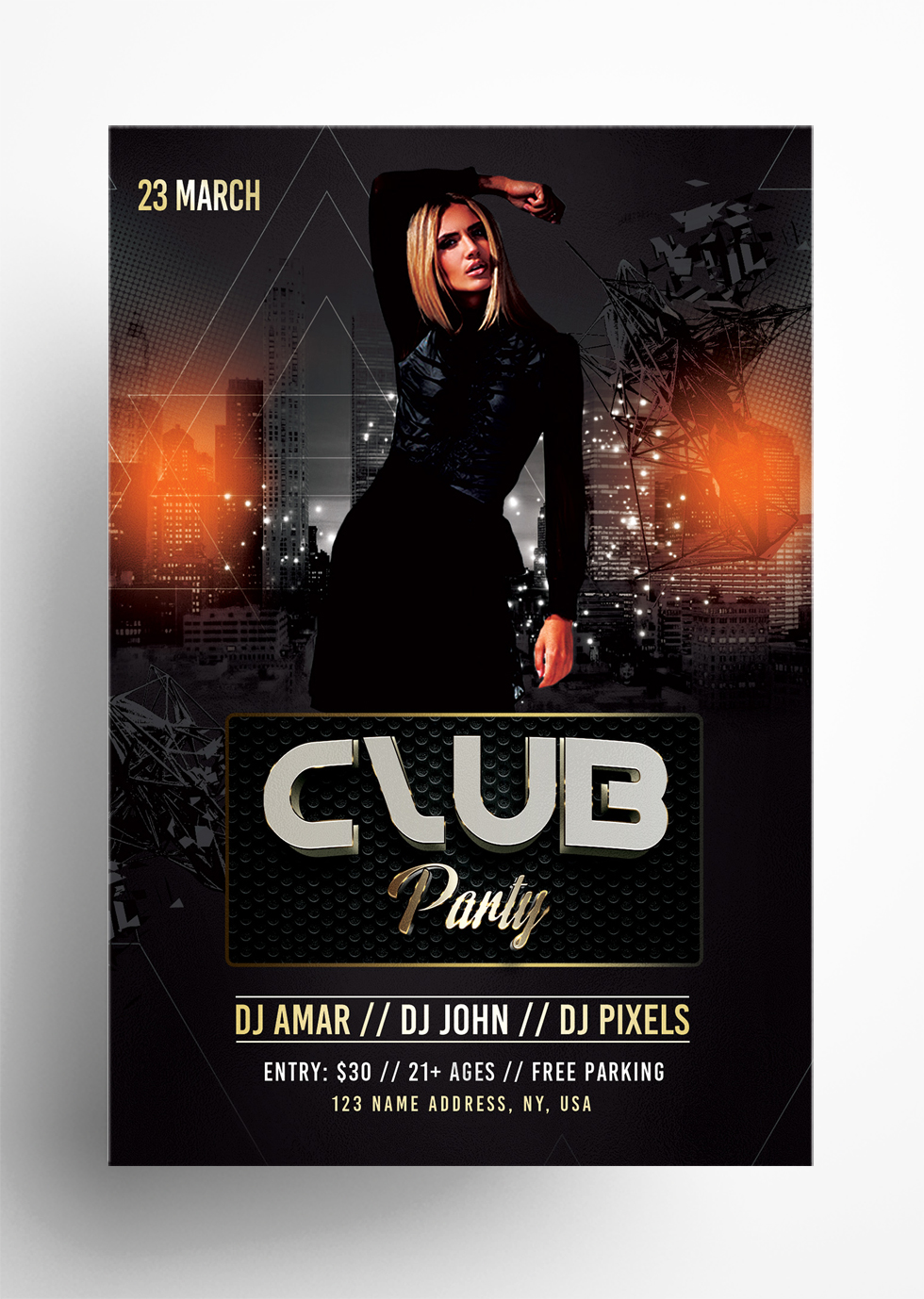 Club Party - Free PSD Flyer Template