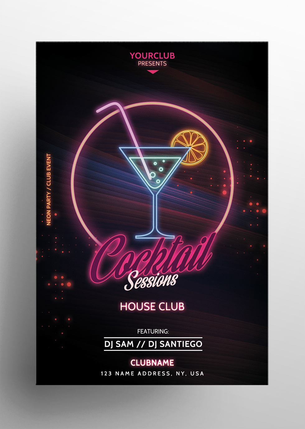 Cocktail Sessions - Free PSD Flyer Template