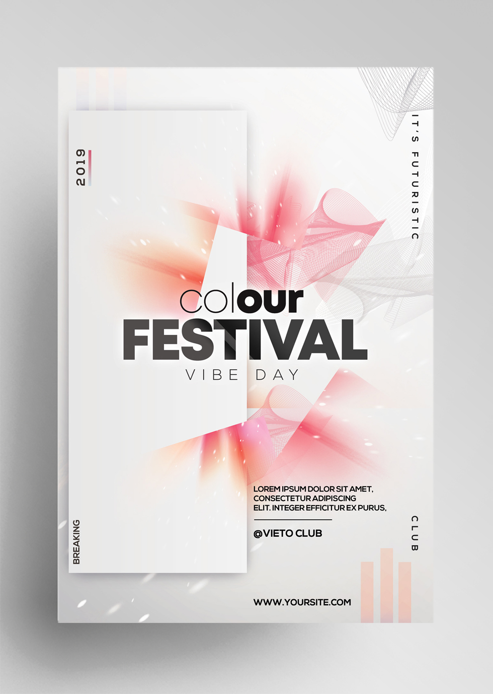 Color Festival - Free Alternative PSD Flyer Template