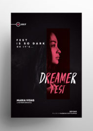 Dark Fest - Free PSD Flyer Template