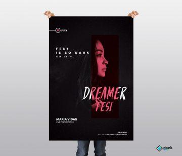 Dark Fest - Free PSD Flyer Template