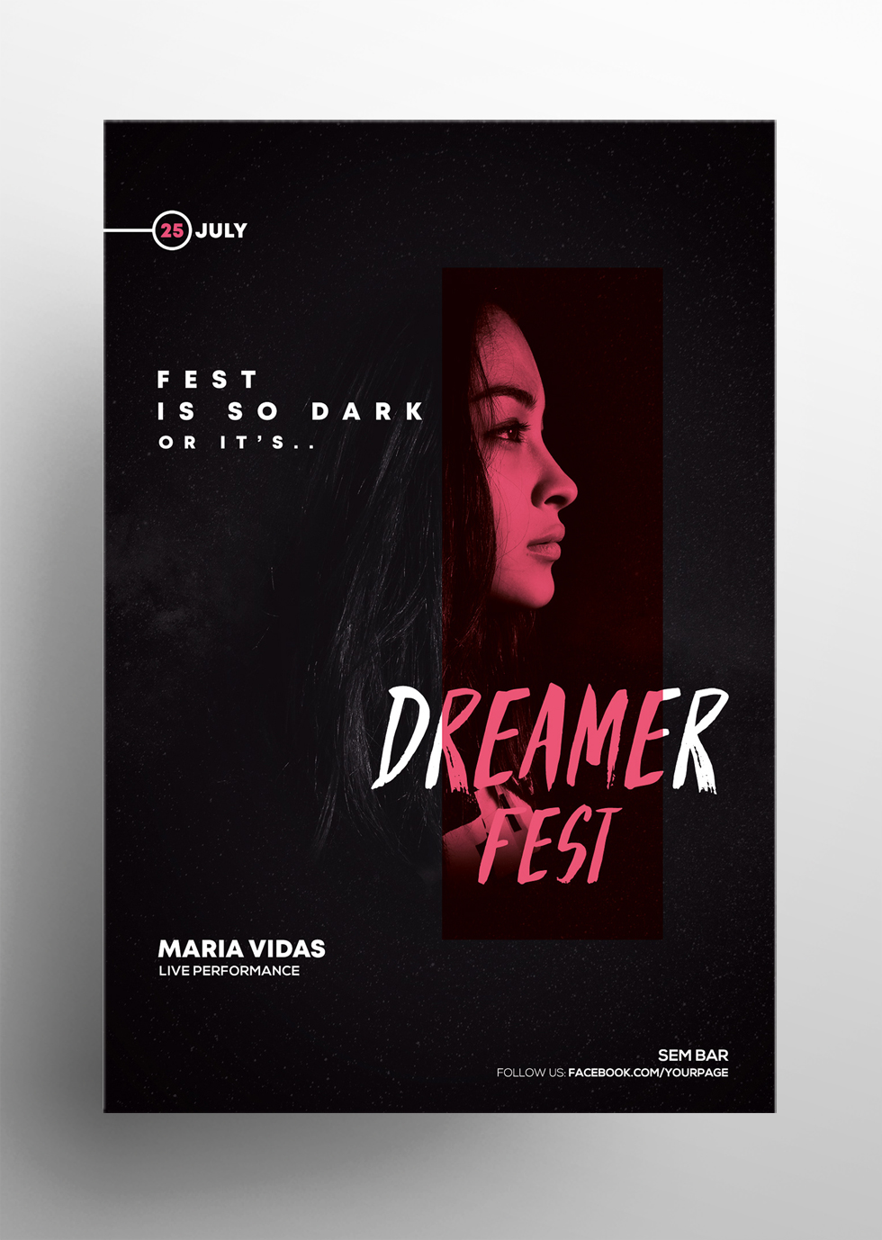 Dark Fest – Free PSD Flyer Template