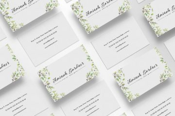 Floral Business Card - Free PSD Template