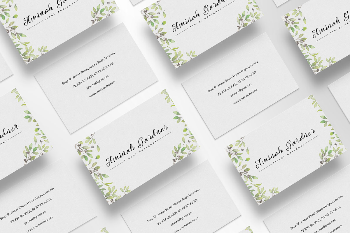 Floral Business Card – Free PSD Template