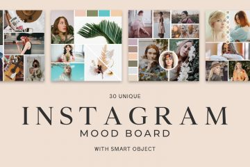 30 Free Instagram Mood Board PSD Templates