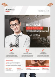Free Corporate Business PSD Flyer Template