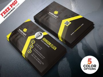 Free Modern Business Cards Design PSD Template