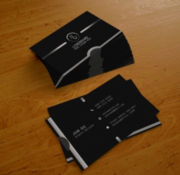 Black Business Card - Free PSD Template
