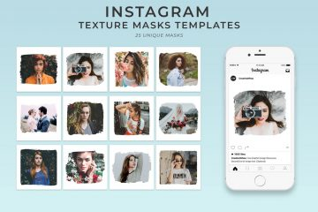 25 Textured Instagram Mask - Free PSD Templates