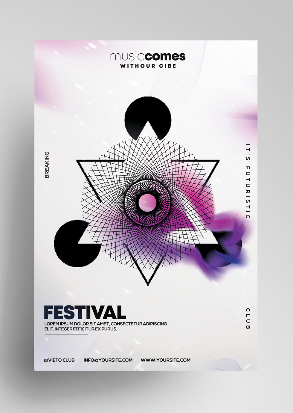 Geometric Party - Free Alternative PSD Flyer Template