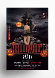 Halloween Party - Free PSD Flyer Template