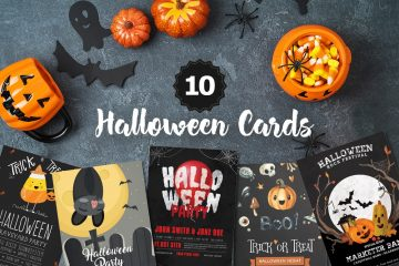 10 Free Halloween PSD Cards Templates