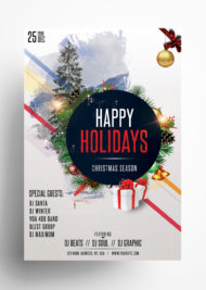 Happy Holidays - Free Christmas PSD Flyer