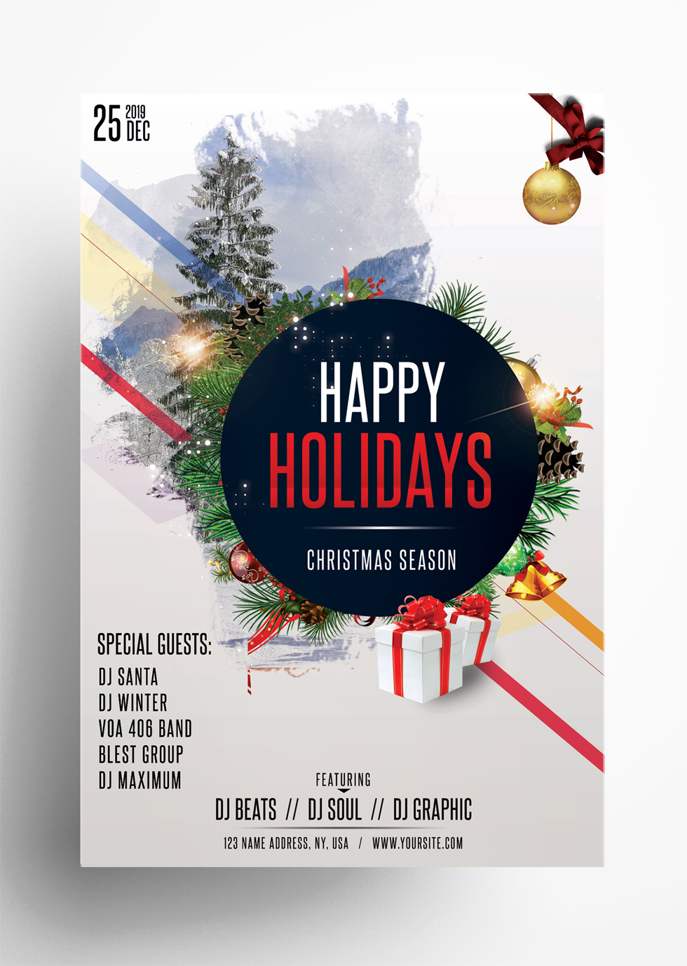 Happy Holidays – Free Christmas PSD Flyer