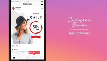 Instagram Sale Banner - Free PSD Template