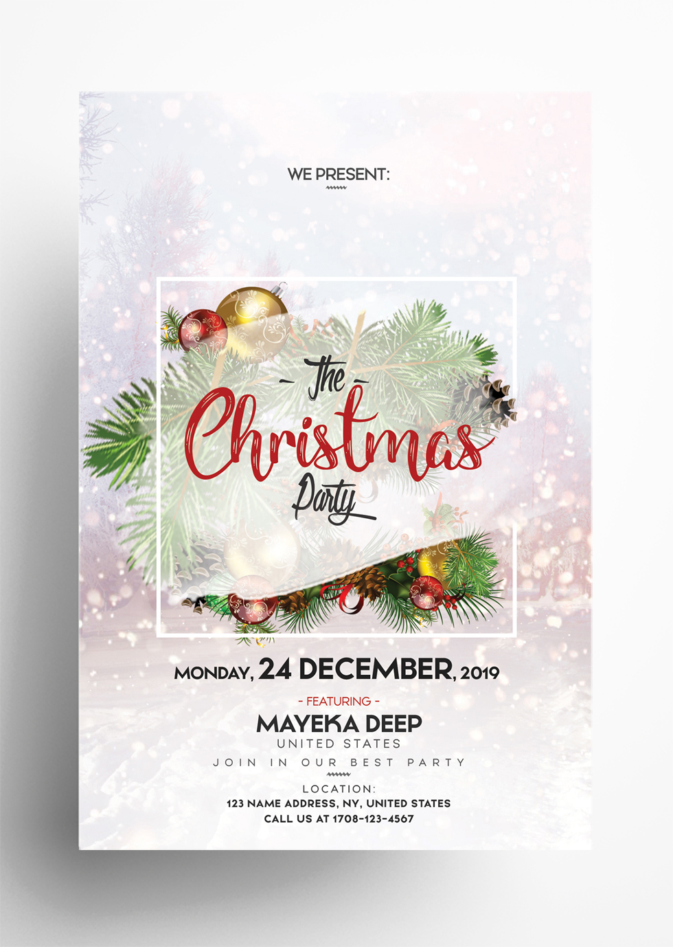 Merry Christmas – Free PSD Flyer Template