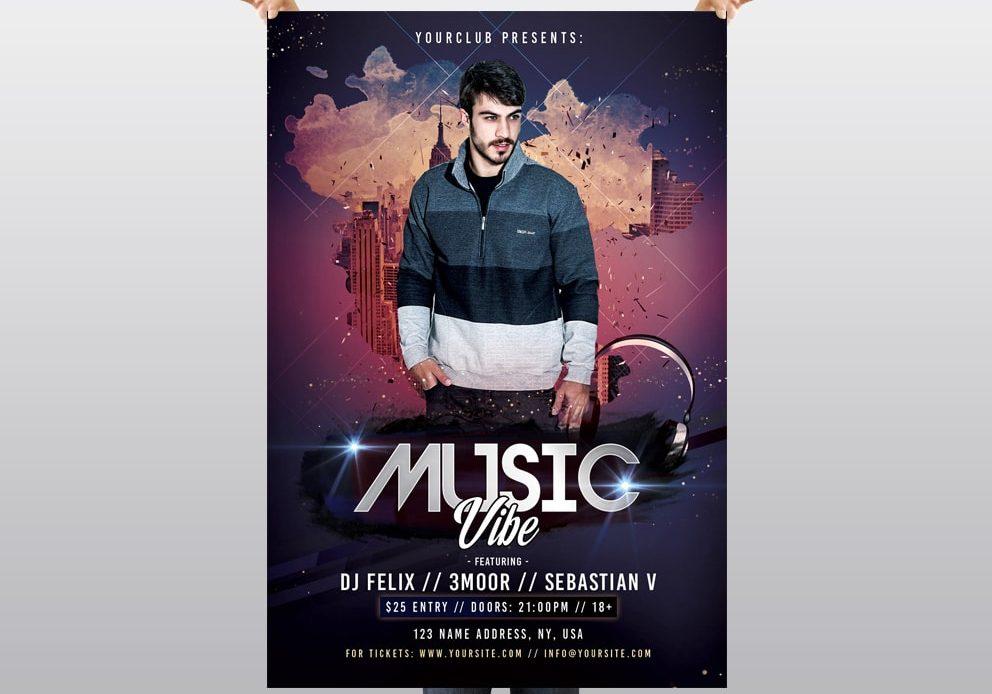 Music Vibe - Free PSD Flyer Template - Pixelsdesign net