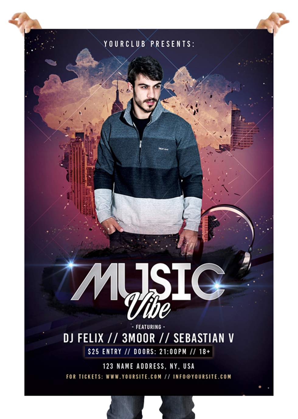 Music Vibe – Free PSD Flyer Template