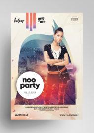 Noo Party - Free Alternative PSD Flyer Template