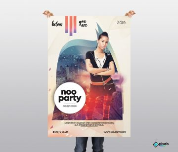 Noo Party - Free Alternative PSD Flyer Template