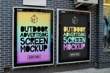 Outdoor Advertising Screen Billboard Free Mockup