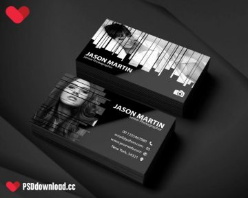 Photography Business Card Free PSD Template