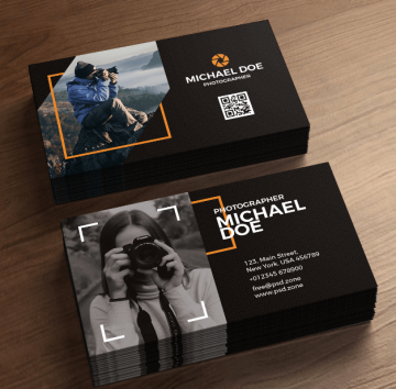 Photography Business Cards Freebie PSD Templates