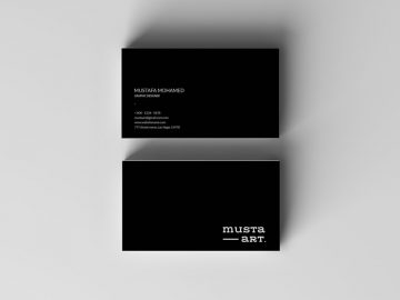 Simple Black Business Card - Free PSD Template