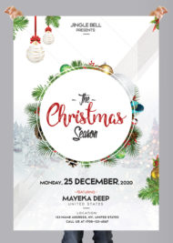 The Christmas Season - Free PSD Flyer Template