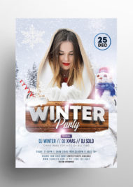 Winter Party - Free PSD Flyer Template