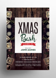 X-Mas Bash - Free PSD Flyer Template