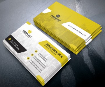 Corporate Business Card Freebie PSD Template
