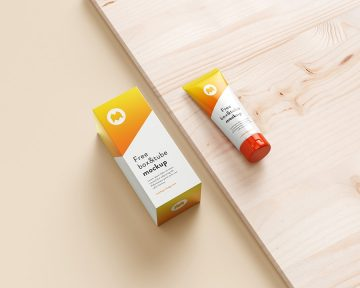 Cosmetics Tube Packaging Free Mockup