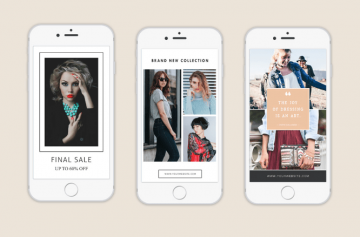3 Fashion Instagram Stories - Free PSD Templates