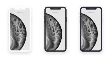 3 iPhone XS Minimal Flat Free Mockup