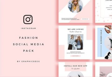 9 Fashion Instagram Banners - Free PSD Templates
