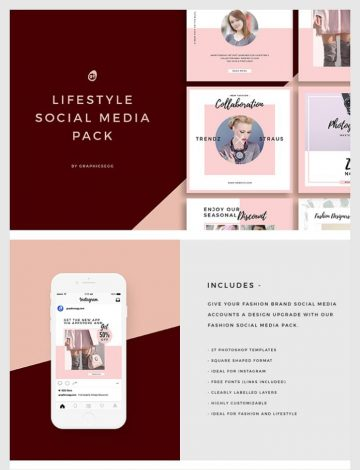 27 Free Lifestyle Instagram Banners Pack