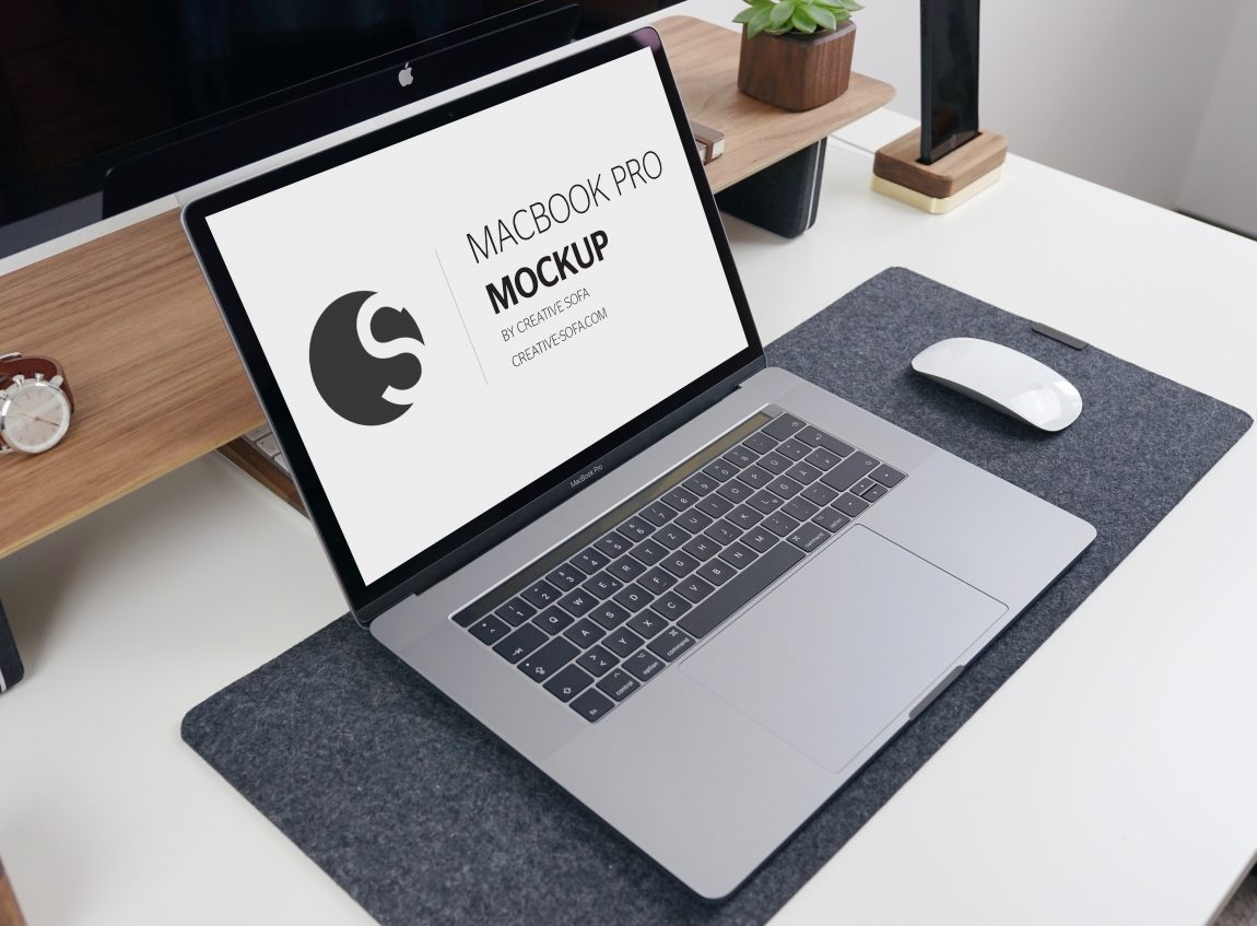 Realistic Macbook Pro Free Mockup