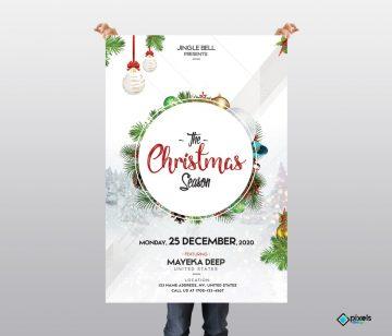 The Christmas Season - Free PSD Flyer Template