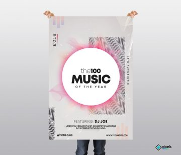 the100 Music - Free Alternative PSD Flyer Template