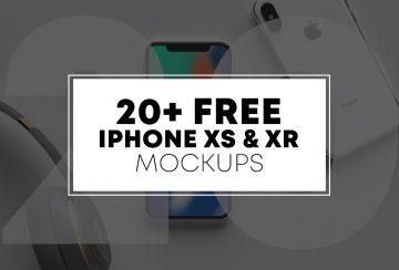 20+ Free iPhone XS & XR Mockups