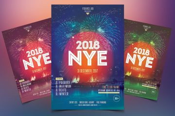 New Year Event - Premium PSD Flyer Template
