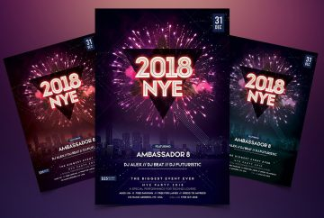 New Year Party Premium PSD Flyer Template