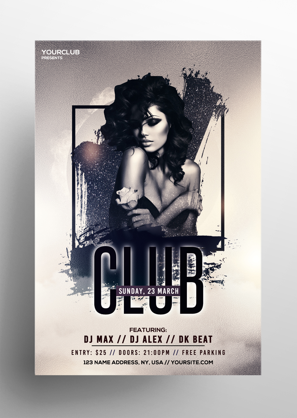 Club & Vibes - Free PSD Flyer Template
