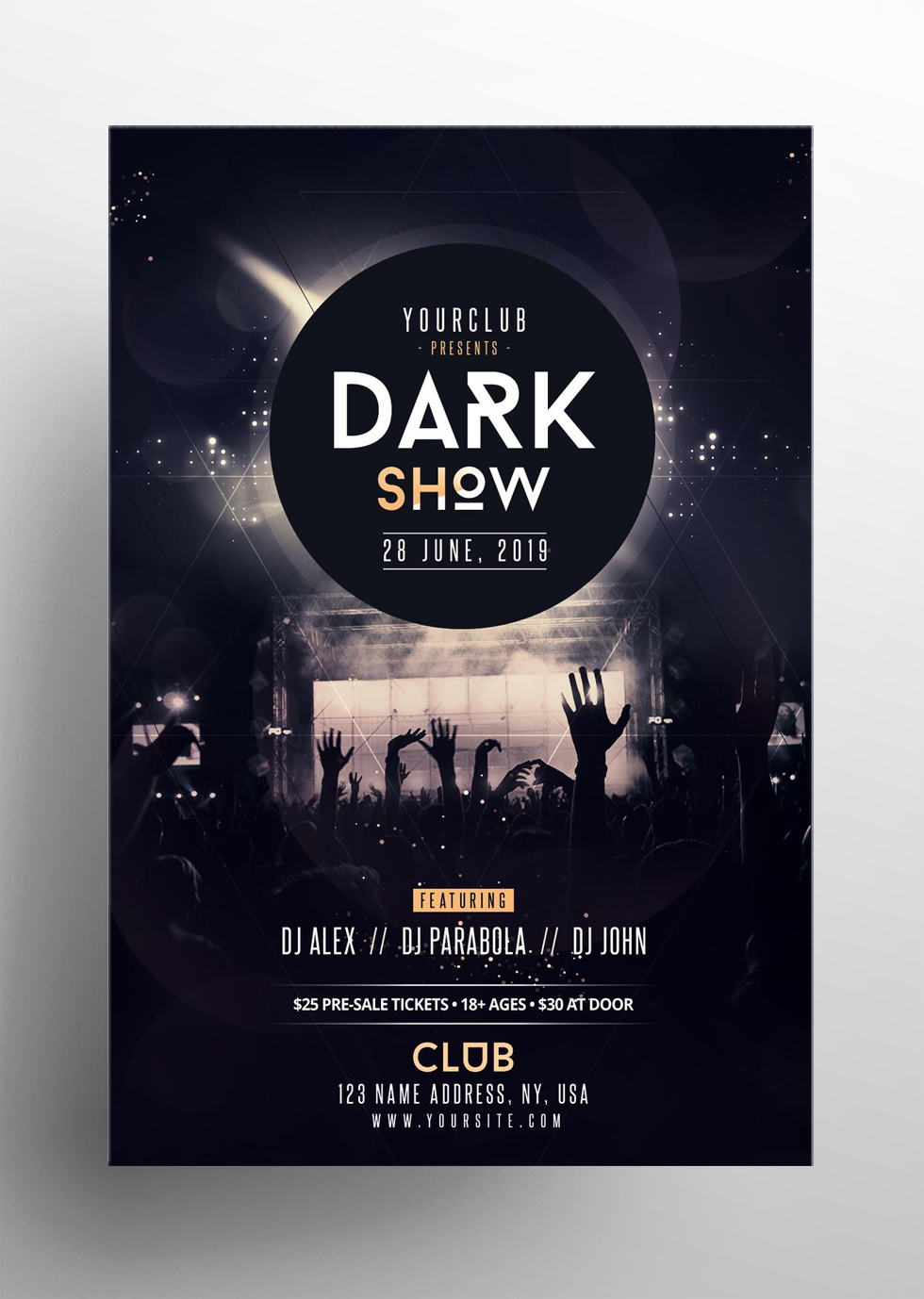 Dark Show – Free PSD Flyer Template
